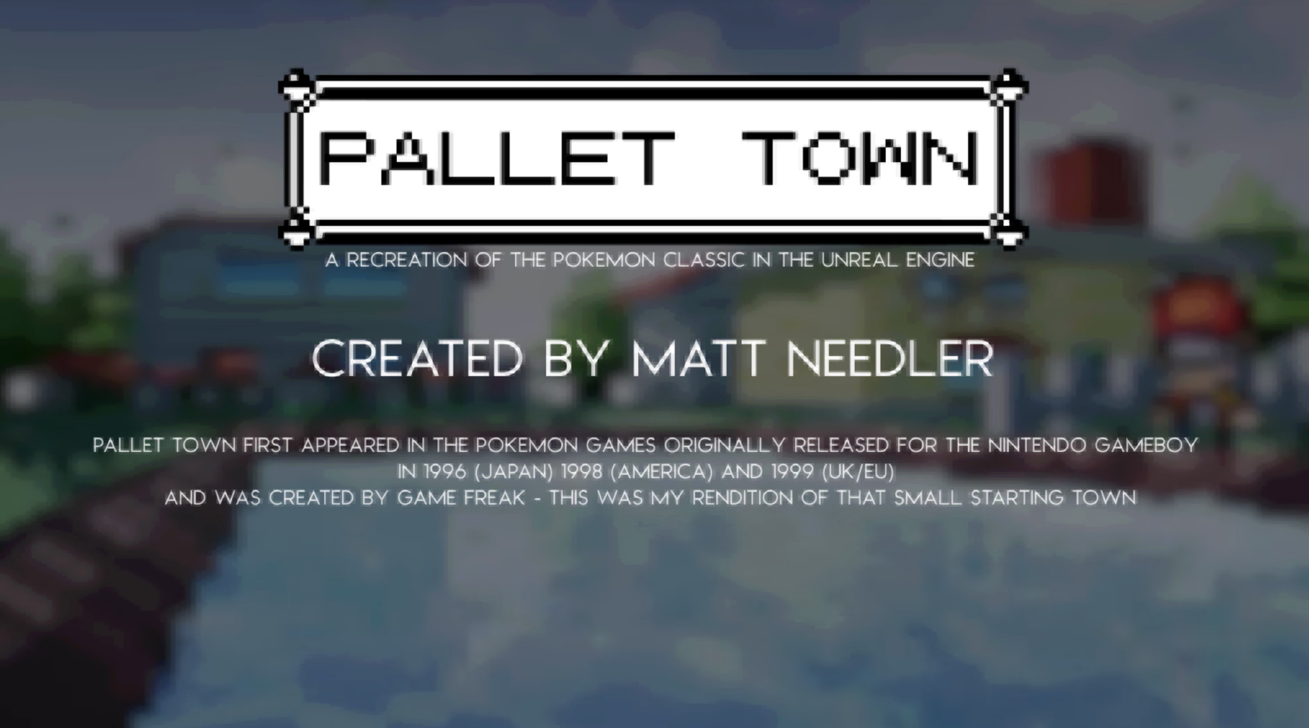 Here is How Pokemon's Pallet Town Would Look in Unreal