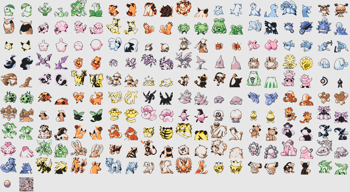 Early demo of gold and silver version reveals unreleased pokmon a high resolution image of every pokmon sprite from the demo can be found here and below are just the generation 2 pokmon as sprites found in the demos thecheapjerseys Image collections