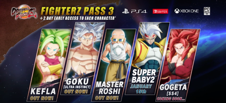 Dragon Ball FighterZ Pass 3 DLC
