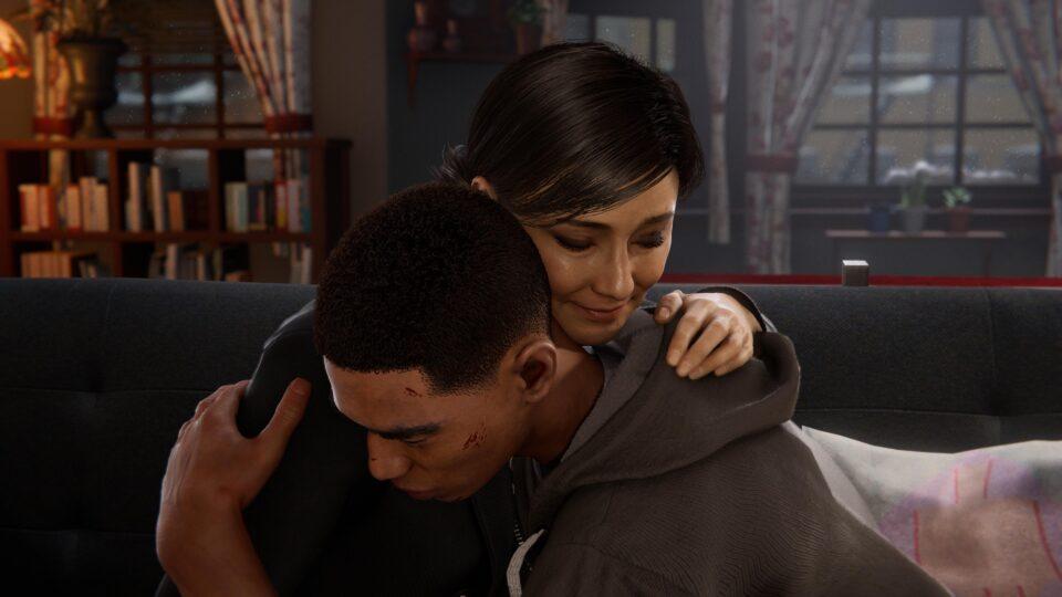 Spider-Man Miles Morales - Rio hugs Miles